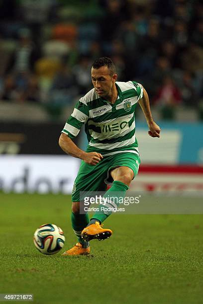 Sporting's defender Jefferson during the Primeira Liga Portugal match between Sporting CP and Vitoria Setubal at Estadio Jose Alvalade on November 29...