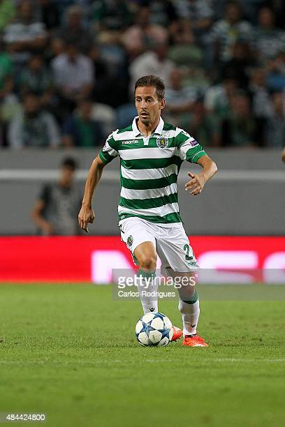 Sporting's defender Joao Pereira during the match between Sporting CP and CSKA Moscow for UEFA Champions League Qualifying Round Play Off First Leg...