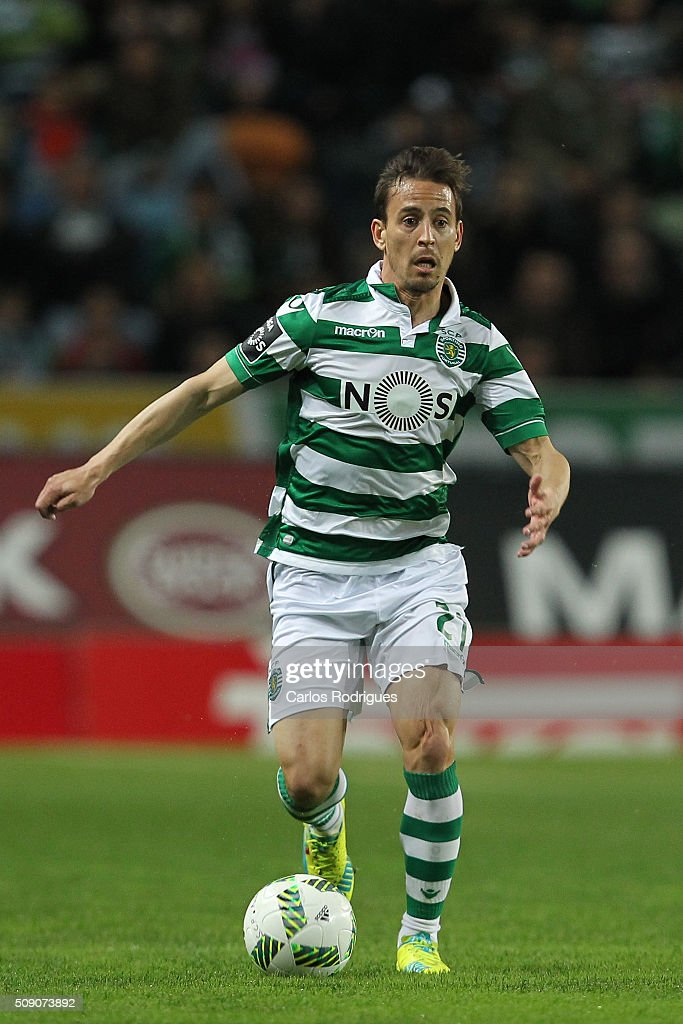 Sporting's defender Joao Pereira during the match between Sporting CP and Rio Ave FC for the Portuguese Primeira Liga at Jose Alvalade Stadium on February 08, 2016 in Lisbon, Portugal.