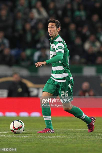 Sporting's defender Paulo Oliveira during the Primeira Liga match between Sporting CP and SL Benfica at Estadio Jose Alvalade on February 08 2015 in...