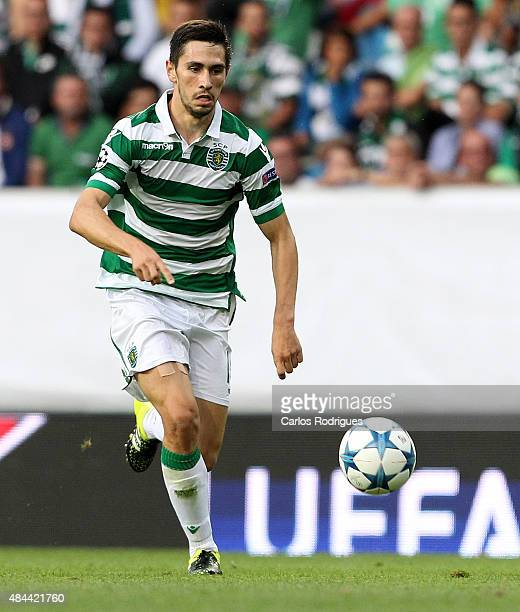 Sporting's defender Paulo Oliveira during the UEFA Champions League qualifying round playoff first leg match between Sporting CP and CSKA Moscow at...