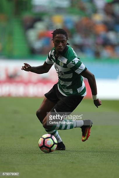 Sporting's defender Ruben Semedo during the Friendly match between Sporting CP and Lyon at Estadio Jose Alvalade on July 23 2016 in Lisbon Portugal