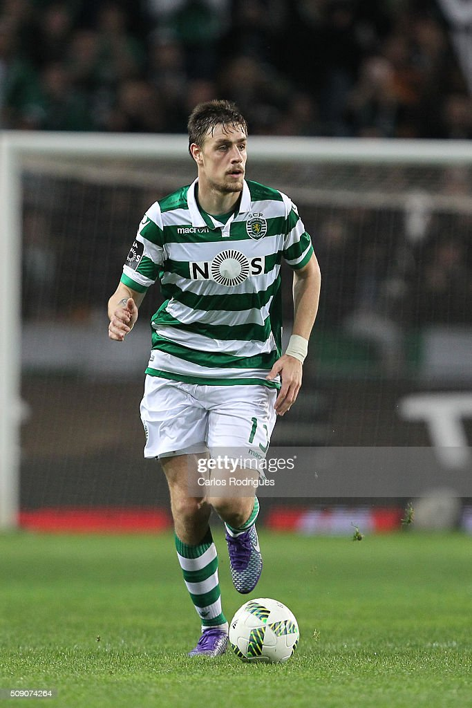 Sporting's defender Sebastian Coates during the match between Sporting CP and Rio Ave FC for the Portuguese Primeira Liga at Jose Alvalade Stadium on February 08, 2016 in Lisbon, Portugal.