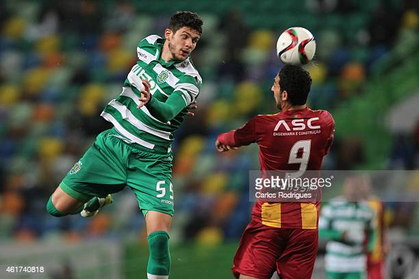 Sporting's defender Tobias Figueiredo and Rio Ave's forward Ahmed Hassan during the Primeira Liga match between Sporting CP and Rio Ave at Estadio...