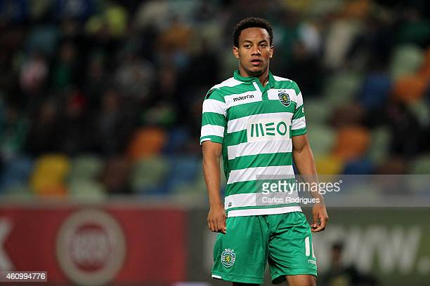 Sporting's forward Andre Carrillo during Portuguese League match between Sporting CP and Estoril Praia SAD at Estadio Jose Alvalade on January 3 2015...
