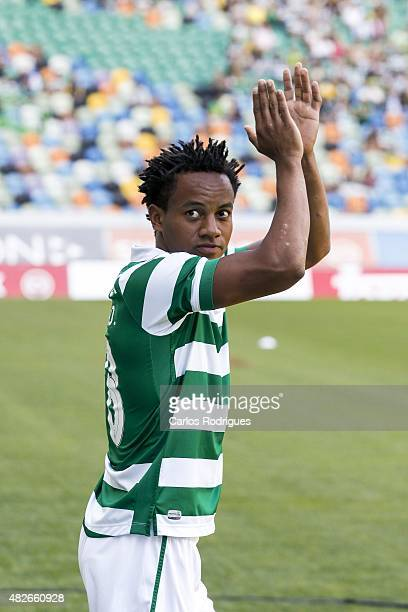 Sporting's forward Andre Carrillo during the preseason friendly between Sporting CP and AS Roma at Estadio Jose Alvalade on August 1 2015 in Lisbon...
