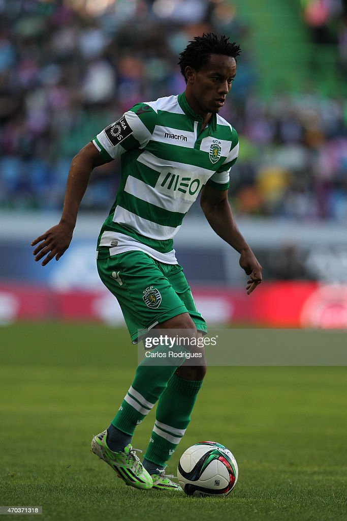 Sporting's forward Andre Carrillo during the Primeira Liga match between Sporting CF and Boavista at Estadio Jose Alvalade on April 19, 2015 in Lisbon, Portugal.