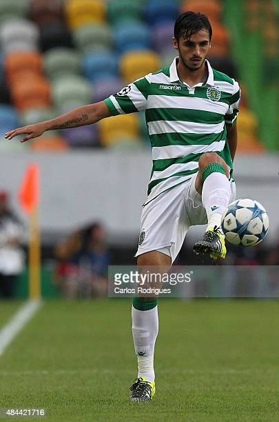Sporting's forward Bryan Ruiz during the UEFA Champions League qualifying round playoff first leg match between Sporting CP and CSKA Moscow at...