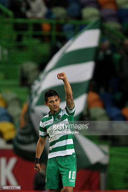 Sporting's forward Fredy Montero during the Primeira Liga Portugal match between Sporting CP and Vitoria Setubal at Estadio Jose Alvalade on November...