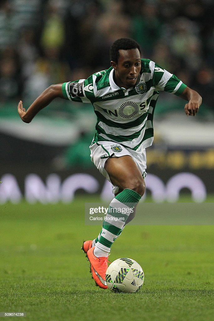 Sporting's forward Gelson Martins during the match between Sporting CP and Rio Ave FC for the Portuguese Primeira Liga at Jose Alvalade Stadium on February 08, 2016 in Lisbon, Portugal.