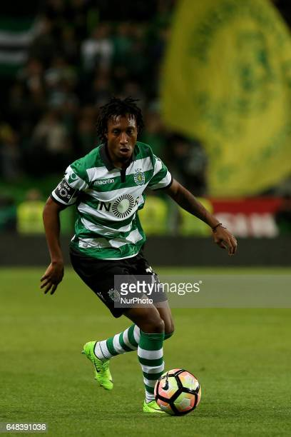 Sportings forward Gelson Martins from Portugal during Premier League 2016/17 match between Sporting CP and Vitoria SC at Alvalade Stadium in Lisbon...