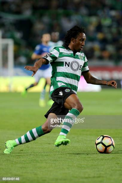 Sportings forward Gelson Martins from Portugal during Premier League 2016/17 match between Sporting CP and CD Nacional at Alvalade Stadium in Lisbon...