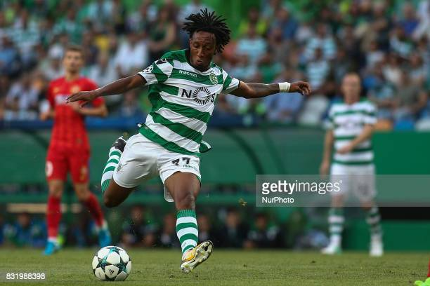 Sporting's forward Gelson Martins in action during the UEFA Champions League football match between Sporting CP and Steaua Bucuresti at Alvalade...