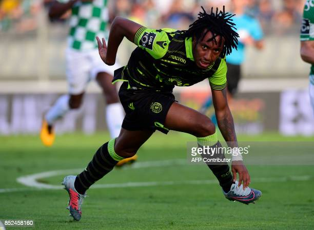 Sporting's forward Gelson Martins looks on during the Portuguese league football match Moreirense FC vs Sporting CP at the Comendador Joaquim de...
