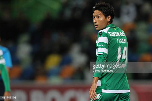 Sporting's forward Junya Tanaka during the Primeira Liga match between Sporting CP and Rio Ave at Estadio Jose Alvalade on January 18 2015 in Lisbon...
