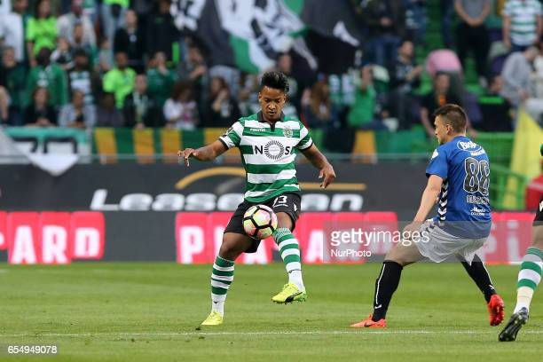 Sportings forward Matheus Pereira from Brazil during Premier League 2016/17 match between Sporting CP and CD Nacional at Alvalade Stadium in Lisbon...