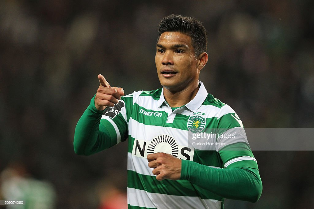 Sporting's forward Teofilo Gutierrez during the match between Sporting CP and Rio Ave FC for the Portuguese Primeira Liga at Jose Alvalade Stadium on February 08, 2016 in Lisbon, Portugal.