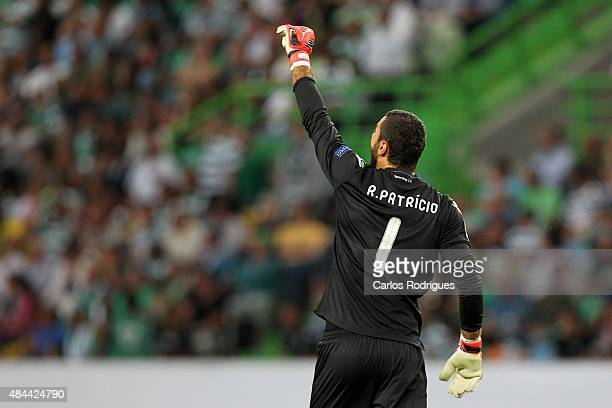Sporting's goalkeeper Rui Patricio during the match between Sporting CP and CSKA Moscow for UEFA Champions League Qualifying Round Play Off First Leg...