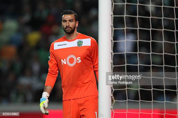 Sporting's goalkeeper Rui Patricio during the match between Sporting CP and CS Maritimo for the Portuguese Primeira Liga at Jose Alvalade Stadium on...