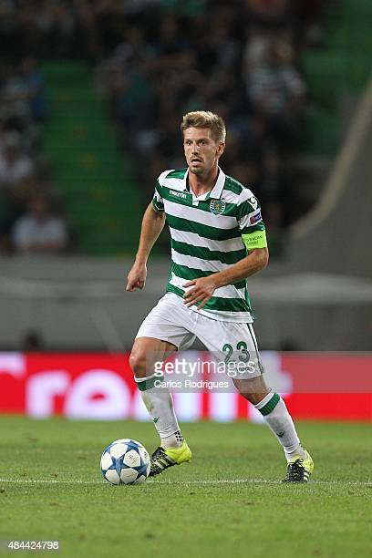 Sporting's midfielder Adrien Silva during the match between Sporting CP and CSKA Moscow for UEFA Champions League Qualifying Round Play Off First Leg...