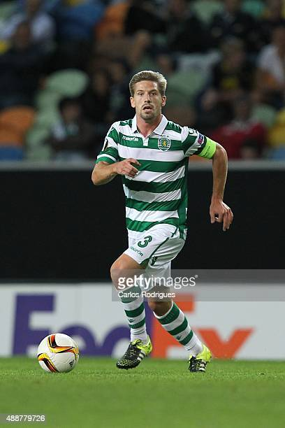 Sporting's midfielder Adrien Silva during the match between Sporting CP and Locomotive Moscow for UEFA Europe League Group Round on September 17 2015...