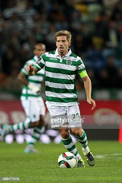 Sporting's midfielder Adrien Silva during the match between Sporting CP and FC CD Nacional at Jose Alvalade Satdum on September 21 2015 in Lisbon...