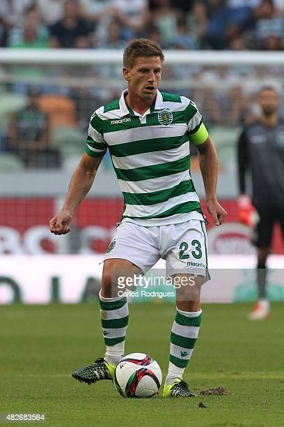 Sporting's midfielder Adrien Silva during the preseason friendly between Sporting CP and AS Roma at Estadio Jose Alvalade on August 1 2015 in Lisbon...