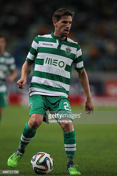 Sporting's midfielder Adrien Silva during the Primeira Liga Portugal match between Sporting CP and Vitoria Setubal at Estadio Jose Alvalade on...