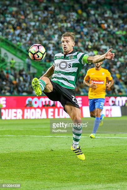 Sportings midfielder Adrien Silva from Portugal during Premier League 2016/17 match between Sporting CP and Estoril at Alvalade Stadium in Lisbon on...