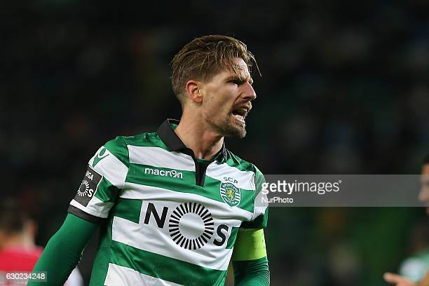 Sportings midfielder Adrien Silva from Portugal during Premier League 2016/17 match between Sporting CP and SC Braga at Alvalade Stadium in Lisbon on...