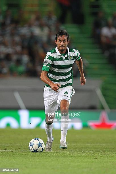 Sporting's midfielder Alberto Aquilani during the match between Sporting CP and CSKA Moscow for UEFA Champions League Qualifying Round Play Off First...