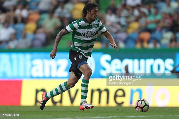 Sporting's midfielder Ezequiel Schelotto during the Friendly match between Sporting CP and Lyon at Estadio Jose Alvalade on July 23 2016 in Lisbon...