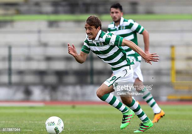 Sporting's midfielder Francisco Geraldes during the Friendly match between Japan U23 v Sporting Clube de Portugal B at Estadio Municipal de Rio Maior...
