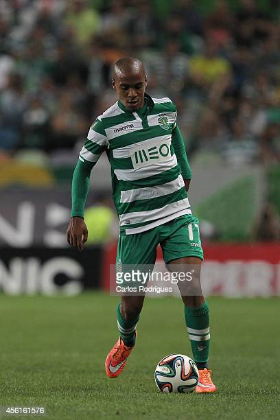 Sporting's midfielder Joao Mario during the Primeira Liga match between Sporting CP and FC Porto at Estadio Jose Alvalade on September 26 2014 in...
