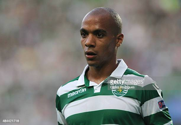 Sporting's midfielder Joao Mario during the UEFA Champions League qualifying round playoff first leg match between Sporting CP and CSKA Moscow at...