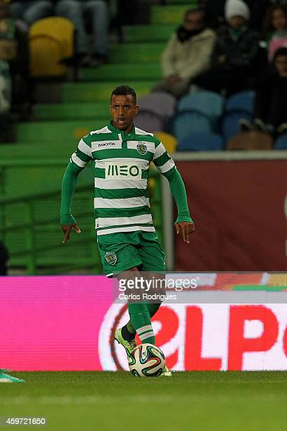 Sporting's midfielder Nani during the Primeira Liga Portugal match between Sporting CP and Vitoria Setubal at Estadio Jose Alvalade on November 29...