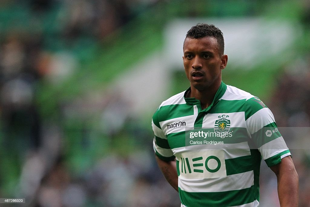 Sporting's midfielder <a gi-track='captionPersonalityLinkClicked' href=/galleries/search?phrase=Nani+-+Soccer+Player&family=editorial&specificpeople=11510994 ng-click='$event.stopPropagation()'>Nani</a> during the Primeira Liga Portugal match between Sporting CP and Vitoria Guimaraes at Estadio Jose Alvalade on March 22, 2015 in Lisbon, Portugal.