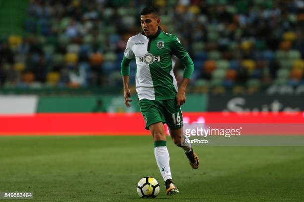 Sportings midfielder Rodrigo Battaglia from Argentina during the Portuguese Cup 2017/18 match between Sporting CP v CS Maritimo at Alvalade Stadium...