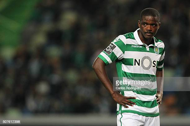 Sporting's midfielder William Carvalho during the match between Sporting CP and A Academica de Coimbra for the Portuguese Primeira Liga at Jose...