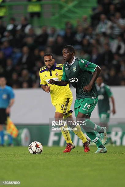 Sporting's midfielder William Carvalho during the UEFA Champions League match between Sporting Clube de Portugal and NK Maribor on November 25 2014...