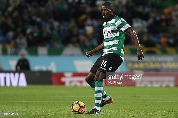 Sportings midfielder William Carvalho from Portugal during Premier League 2016/17 match between Sporting CP and SC Braga at Alvalade Stadium in...