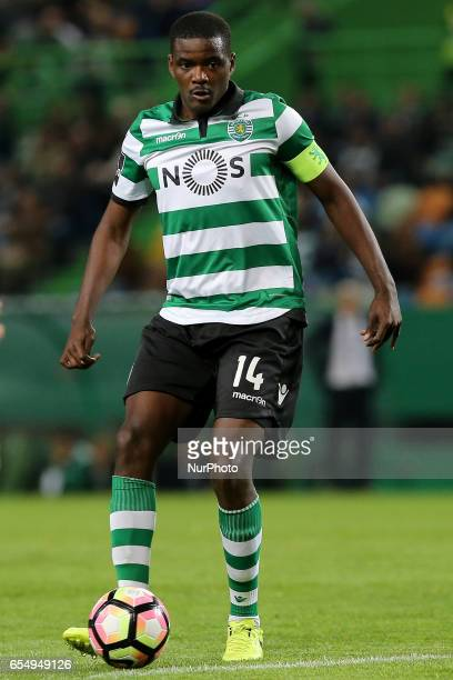 Sportings midfielder William Carvalho from Portugal during Premier League 2016/17 match between Sporting CP and CD Nacional at Alvalade Stadium in...