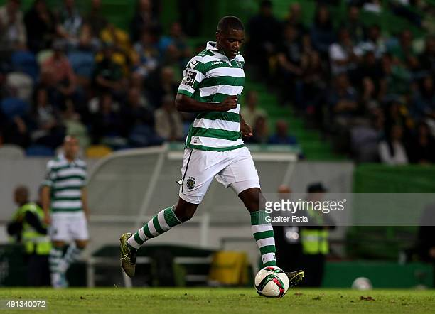 Sporting's midfielder William Carvalho in action during the Primeira Liga match between Sporting CP and Vitoria de Guimaraes at Do Estadio Jose...