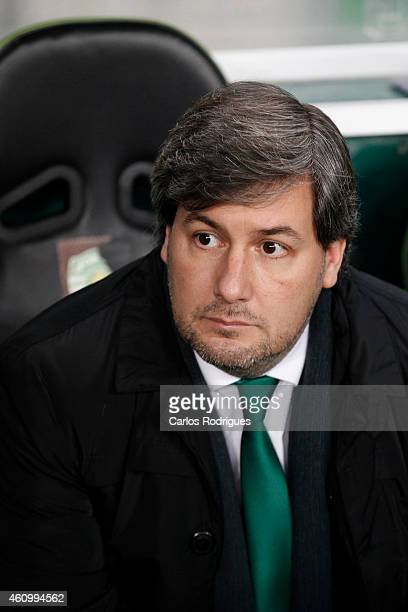 Sporting's President Bruno de Carvalho during Portuguese League match between Sporting CP and Estoril Praia SAD at Estadio Jose Alvalade on January 3...
