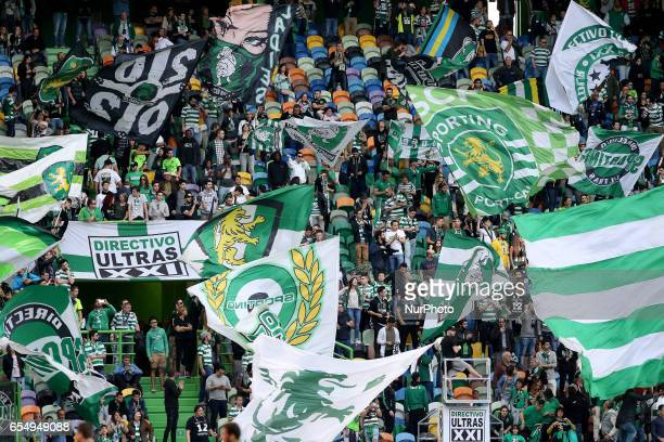Sportings supporters during Premier League 2016/17 match between Sporting CP and CD Nacional at Alvalade Stadium in Lisbon on March 18 2016