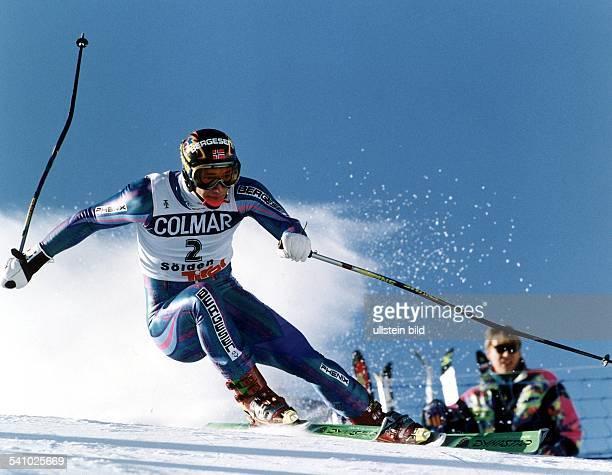 Sportler Ski alpin Norbeim Abfahrtslauf in Sölden 1993