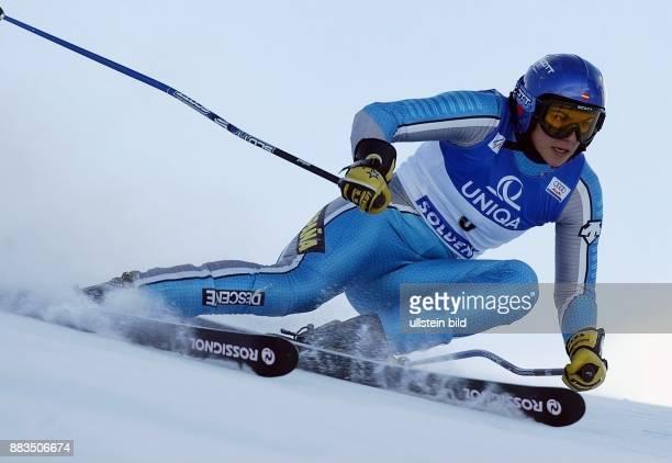 Sportlerin Ski Alpin Spanien in Aktion