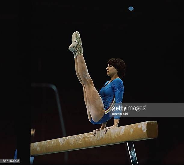 Sportlerin / Turnen / Kunstturnen ROM am Schwebebalken bei den olympischen Spielen 1980 in Moskau Goldmedaille
