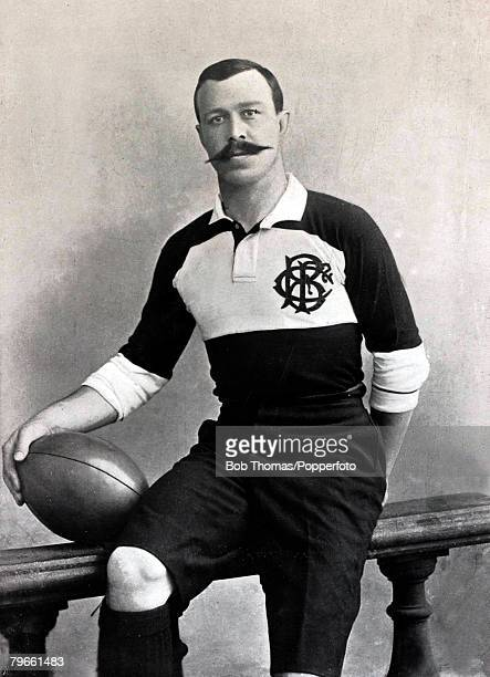 Sport/Rugby Union circa 1896 WPCarpmael who played for Cambridge University Blackheath and the Barbarians and was further known in the game as an...