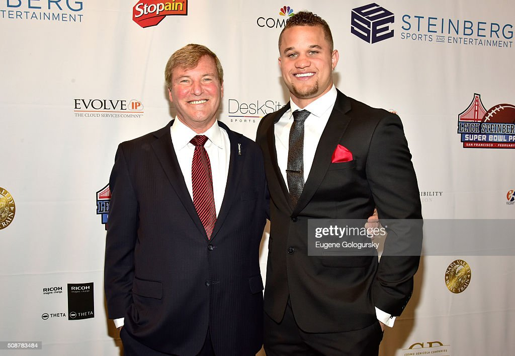 Sports agent <a gi-track='captionPersonalityLinkClicked' href=/galleries/search?phrase=Leigh+Steinberg&family=editorial&specificpeople=221448 ng-click='$event.stopPropagation()'>Leigh Steinberg</a> and football player Daniel Lasco attend the 29th Annual <a gi-track='captionPersonalityLinkClicked' href=/galleries/search?phrase=Leigh+Steinberg&family=editorial&specificpeople=221448 ng-click='$event.stopPropagation()'>Leigh Steinberg</a> Super Bowl Party on February 6, 2016 in San Francisco, California.